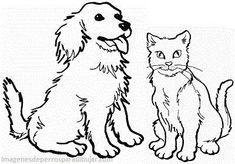 Dibujos Infantiles De Perros Y Gatos Juntos En Caricaturas Con