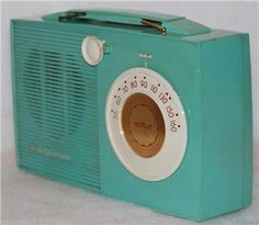 Vintage Art Deco GE General Electric Aqua Green Transistor Radio Model P701 | eBay