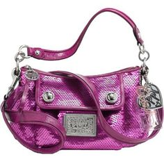 Coach Limited Edition Sequin Groovy Shoudler Bag Purse Tote 16482 Sweetheart