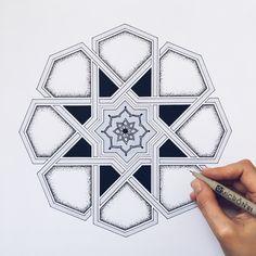 Islamic Art Pattern, Arabic Pattern, Persian Pattern, Geometry Pattern, Geometry Art, Islamic Motifs, Pattern Sketch, Pattern Art, Geometric Designs