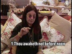 When Ozzy spoke for all of us regarding sleeping in late: