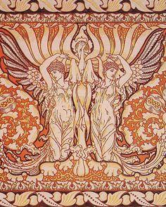 Art Nouveau Walter Crane 'Corona Vitae' 1890