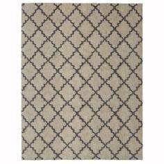 allen + roth Gray Rectangular Indoor Woven Area Rug (Common: 10 x 13; Actual: 120-in W x 155-in L)