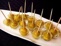 Cocinando con Lola García: Aceitunas con gelatina de Martini