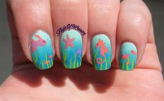 Under The Sea by flightofwhimsy from Nail Art Gallery