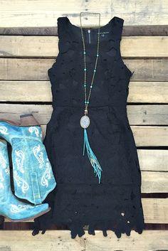 boutique clothing, Have Tea With Me Dress - Black