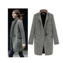 O envio gratuito de mulheres elegantes de inverno casacos de lã plus size cinza de algodão quente trench laides jaqueta de veludo grosso longo sobretudo ao ar livre(China (Mainland))
