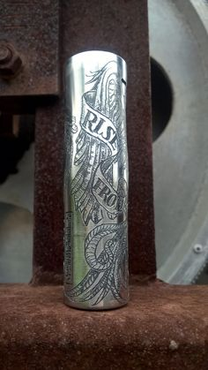 Phoenix rising from the ashes-Stainless steel mod-For customizing your mod or purchase an engraved one contact us#mod #engraving #modengraving #customizedmods #smok #smokalien #handmade #design #artist#dragons#vape #vapeporn #vapetricks #vapor #vaping #vapenation #handmade #handmadevape #handmademo#pheonix