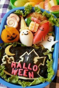 Kawaii Spooky Lunch! @Optivion キャラ弁!ハロウィン弁当 #Halloween
