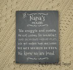 personalized nana gift mother s day gift for grandmother burlap