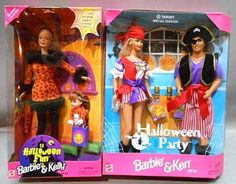 shopgoodwill.com: Two Sets of Halloween Barbie Dolls � New