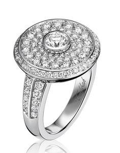 cd3cf7eef TABBAH -- Beret Edition Ring in 18k White Gold set with 113 Diamonds (Ref