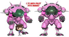 From Overwatch, D.VA & Meka, as a stylized POP vinyl from Funko! Figure stands and comes in a window display box. Check out the other Overwatch figures from