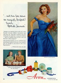 A lovely vintage Avon ad from 1951.