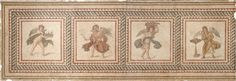 VMFA Roman, Seleucia Pieria, a suburb of Antioch The Four Seasons, section of floor mosaic from the House of the Drinking Contest