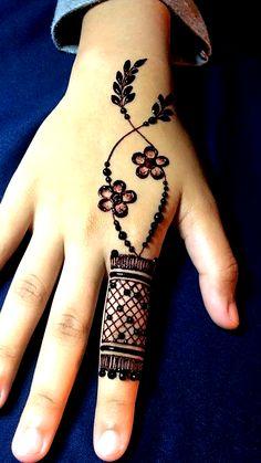 Ideas for tattoo ideas finger henna mehndi Simple Mehndi Designs Fingers, Basic Mehndi Designs, Modern Henna Designs, Henna Tattoo Designs Simple, Latest Henna Designs, Floral Henna Designs, Finger Henna Designs, Mehndi Designs For Girls, Mehndi Designs For Beginners