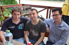 Three game designers (Gabko, Michal and Golo).