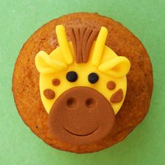 Your place to buy and sell all things handmade Fondant Giraffe, Giraffe Cupcakes, Baby Shower Cupcakes For Boy, Animal Cupcakes, Fun Cupcakes, Fondant Cupcake Toppers, Cupcake Cakes, Beanie Boo Birthdays, Safari Cakes