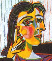 Pablo Picasso Spanish Portrait of Dora Maar Picasso ranks among the top painters of all-time. He was one of the founders of cubism -- a stlye that captures an object from different angles all at once. This painting is actually of Picasso's lover. Portraits Cubistes, Cubist Portraits, Famous Portraits, Most Famous Paintings, Abstract Portrait, Famous Art, Painting Portraits, Pablo Picasso, Kunst Picasso