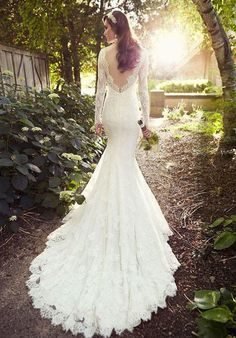 A-line wedding gown with soft lace in either white or ivory | Essense of Australia | https://www.theknot.com/fashion/d1745-essense-of-australia-wedding-dress