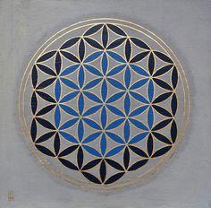 La Flor de la Vida, 40 x 40 cm, obra sobre madera.