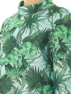 Emma Cook Tropical-print neoprene sweatshirt