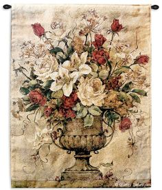 Reflections I Floral Wall Tapestry