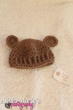 teddy bear hat $15