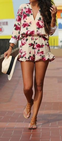 #summer #outfits / floral print