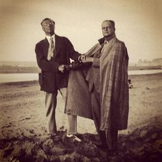 Wassily #Kandinsky and Paul #Klee - Photo © Lily Klee - 1929 - http://bauhaus-movement.com