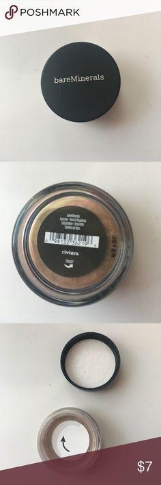 🆕bareMinerals Eyeshadow! Brand new! Never opened! Beautiful Eyeshadow in 'riviera' by bareMinerals! Classy shimmer and pigmentation! bareMinerals Makeup Eyeshadow