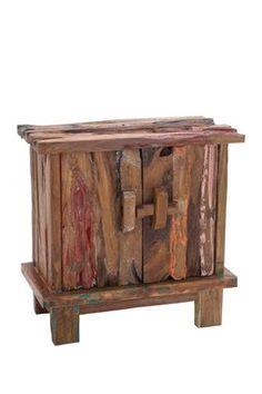 Brown Wood Rustic Cabinet