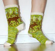 Ravelry: maikinchen's Moose Sock Fair Isle Knitting, Knitting Socks, Camouflage, Ravelry, Moose, Hats, Pattern, Projects, Knit Socks
