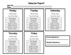 Behavior Clip Chart Colorful Posters & Recording Sheets