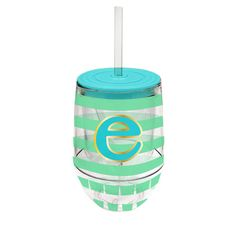 Monogram Stemless Wine Cup-E - Occasionally Made - Monogram Gifts - Great Gift Ideas for Her