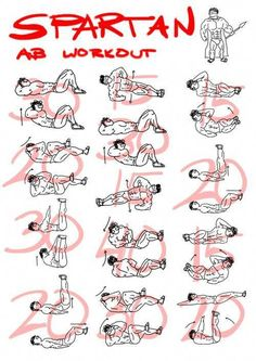 Spartan ab workout - healthy fitness training sixpack core body excersice s Fitness Workouts, Workout Hiit, Great Ab Workouts, At Home Workouts, Spartan Workout, Workout Routines, Crossfit Workouts For Beginners, Ripped Workout, Stomach Workouts