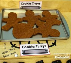Dramatic Play Themes, Dramatic Play Area, Dramatic Play Centers, Chocolate Chip Cookies, Sugar Cookies, Cookies Et Biscuits, Chocolate Shop, Gingerbread Man, Gingerbread Cookies