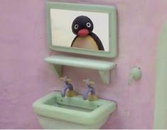 """""""what u lookin at? Cartoon Memes, Cartoon Pics, Cartoons, Kermit, Pingu Pingu, Dankest Memes, Funny Memes, Meme Meme, Pingu Memes"""