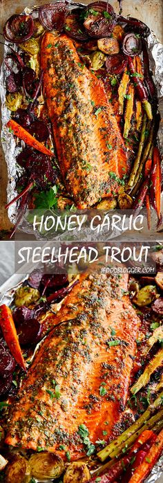 Baked Honey Garlic Steelhead Trout Recipe. The recipe is very simple and the dish is very flavorful. For best results, marinate the fish for at least two hours.| ifoodblogger.com