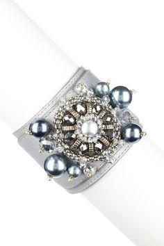 Jewelry by Felicia  Leather Rocks Bracelet