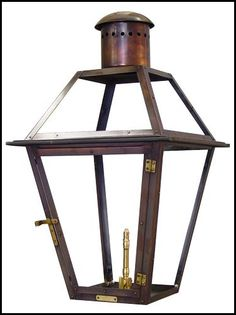 Bevlo Lanterns, New Orleans  LOVE these, they are made in gas &   electric styles