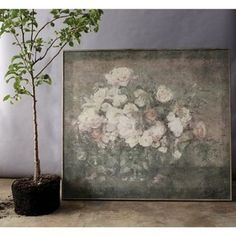Muted colors and an aged patina give the Studios Flower Bouquet Wall Art its antiqued feel. This framed wall art piece is scaled to impress no matter. Wood Wall Decor, Wood Wall Art, Framed Wall Art, Canvas Frame, Canvas Wall Art, Flower Studio, Floral Theme, Floral Wall Art, Spring Home