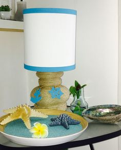 Nautical rope lamp / home decor / summer house.