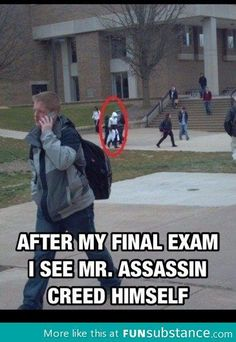 Random Funny Pictures Of pics Crazy Funny Memes, Really Funny Memes, Stupid Memes, Assassins Creed Quotes, Arte Assassins Creed, Assassin's Creed I, Assassin's Creed Wallpaper, Funny Games, Jokes