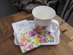 Lovely mug with flowers and chocolate by Janneke Brinkman, licensed by Orange Licensing