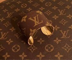31e5b5b1db875 Wide cuff covered in authentic LV monogram canvas upcycled from a vintage  bag