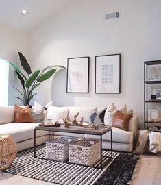 Small Apartment Living, Home Living Room, Living Room Designs, Small Living, Nordic Living Room, Cozy Living, Small Apartments, Interior Design Living Room, Decoration Inspiration