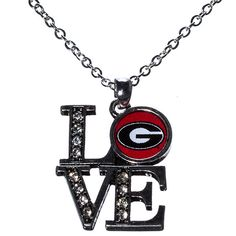 "J and D Jewelry and More - University of Georgia ""LOVE"" Necklace, $11.99"