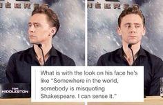 Loki //This post is hilarious! Marvel Funny, Marvel Memes, Marvel Dc Comics, Marvel Avengers, Guy, Marvel Actors, Tom Hiddleston Loki, The Funny, Funny Tom