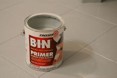 Primer to use for painting tile flooring.